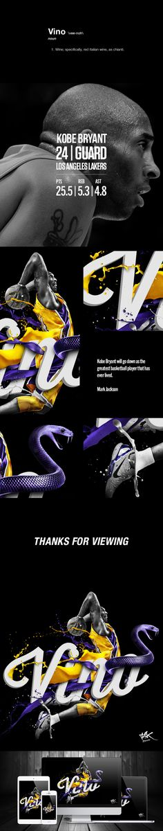 "Kobe ""Vino"" Bryant on Behance"