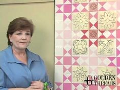 Easy tips for auditioning a variety of quilting designs to create a quilting plan. Consider -- open spaces, themes, colors... All you need is Golden Threads ...