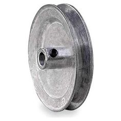 """Fixed Bore Sheave, Solid, Single Groove by Congress. $10.08. V-Belt Pulley, Fixed Bore, Bore Dia. 7/8 In., Outside Dia. 4.00 In., 1 Groove, Solid Construction, 3L Belt Pitch Dia. 3.55 In., 4L, A, or AX Belt Pitch Dia. 3.85 In., 3/16 x 3/32 In. Keyway, Die Cast (Zamak #3) Material, For Use With 3L, 4L, or A Type V-Belts Fixed-Bore 1-Groove Die-Cast SheavesPrecision sheaves have machined grooves and bores for high concentricity. Hollow-head setscrews. 6"""" dia. and larger are sp..."""