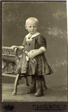 A crippled child. Germany, 1900