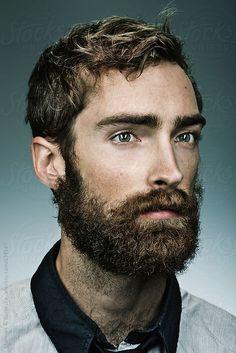 A portrait of a bearded man by Stalman & Boniecka