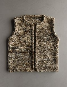 So many great free knitting patterns at Purl Soho, like this Drift Vest. Now all I need to do is learn how to get started. Knitting Patterns Free, Knit Patterns, Free Knitting, Baby Knitting, Knitted Baby, Knit Vest Pattern, Wrap Pattern, Purl Soho, How To Purl Knit