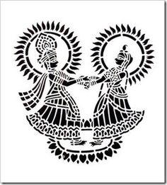 India-inspirit: A rare devotion ……………… Worli Painting, Sketch Painting, Fabric Painting, Madhubani Art, Madhubani Painting, Krishna Painting, Krishna Art, Paper Cutting, Dancing Drawings