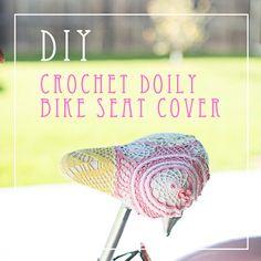 Crochet Doily Bike Seat Cover DIY Tutorial