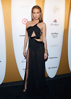 Hannah Davis attends as Captain Morgan White Rum and Crown Royal XO raise a glass to the Sports Illustrated Swimsuit 50 Years of Swim Issue. http://aol.it/1u8r7dQ