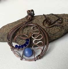 Copper Blues Pendant