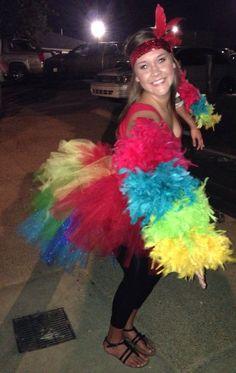 DIY parrot Costume | Homemade Costume. Parrot