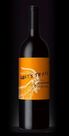 Goats Trail wine, packaging by Stranger & Stranger. Featured on Lovely Package