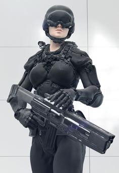 Space, the final frontier! Cyberpunk Girl, Cyberpunk Character, Science Fiction, Female Armor, Futuristic Armour, Sci Fi Armor, Future Soldier, Tough Girl, Ex Machina