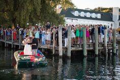 photo wedding boat harbor springs