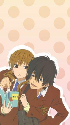 Shizuku and Haru - Tonari no Kaibutsu-kun Girls Anime, Anime Couples Manga, Cute Anime Couples, Anime Guys, Me Me Me Anime, Haru Y Shizuku, Shizuku Mizutani, Manga Anime, Otaku Anime