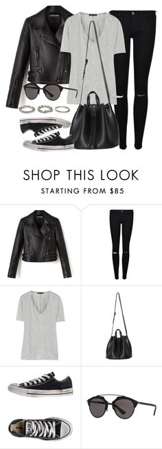 """Untitled #11967"" by vany-alvarado ❤ liked on Polyvore featuring Frame, The Row, Converse, Christian Dior and ASOS"