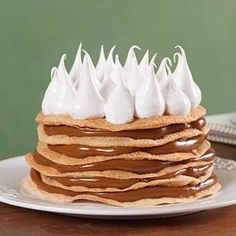 La Salteña - Milhojas de Dulce de Leche Pancakes, Pie, Breakfast, Sweet, Desserts, Food, Mille Feuille, Sweet Recipes, Food Cakes