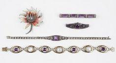 A Diamonbar Sterling Silver And Paste Bracelet. Lot 162-7078