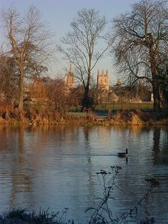 The Isis in winter by Isisbridge, Oxford, via Flickr