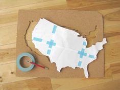 Diy tutorial : Travel map #design*sponge