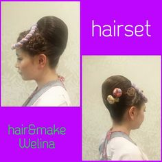 サイドにお花を作った夜会巻きアレンジ❤ #祭り #アップ #お団子 #抱き合わせ #夜会巻き #ヘアセット#hairset #updo #braids #編み込み #裏編み込み #お祭りヘアセット#Welina #hitomiyanagida #myworks