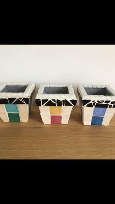 Trilogie de petits pots en mosaïque - Aline Rouas