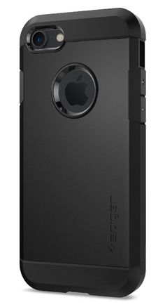 Spigen Tough Armor iPhone 7 Case with Extreme Heavy Duty Protection and Air Cushion Technology for iPhone 7 2016 - Black. Pocket-friendly with extreme, dual layer protection. Mil-Grade Protection with Air-Cushion Technology for all corners. Provides the feel of an original grip. Raised lips for extra protection of screen and camera. iPhone 7 Case Compatible with iPhone 7 (2016).
