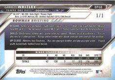 2016 Bowman - Prospects Metallic #BP68 Garrett Whitley Back