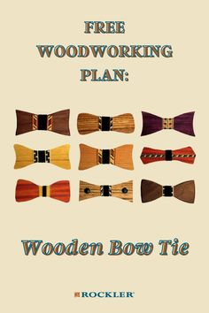 Unique and stylish, wooden bow ties are super easy and fun to make. Learn how by tapping here to download this free plan! #CreateWithConfidence #bowtie #woodenbowtie #freeplan #woodworkingplan Beginner Woodworking Projects, Diy Woodworking, Wooden Bow Tie, Diy Gifts, Handmade Gifts, Wood Working For Beginners, Bow Ties, Crafts To Sell, Gifts For Dad