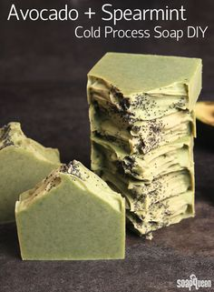 This all natural Avocado and Spearmint Soap is made with real avocado, spearmint essential oils and French green clay.