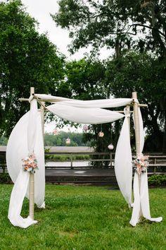 Beautiful Chuppah: http://www.stylemepretty.com/2014/11/19/rustic-summer-wedding-at-magnolia-plantation/ | Photography: Riverland - http://riverlandstudios.com/