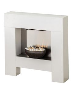 Adam Cubist Electric Fireplace Suite in White, 36 Inch Electric Fire Suites, Electric Fireplace Suites, Wall Mount Electric Fireplace, Electric Fires, Fire Surround, Condo Decorating, Wood Burner, Room Colors, Colours