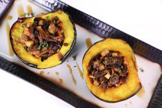 Winter Squash with Apples, Walnuts and Cranberries