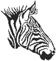 Tribal Zebra Cross Stitch Pattern (CSW0026) Embroidery Patterns by Cross Stitch Wonders