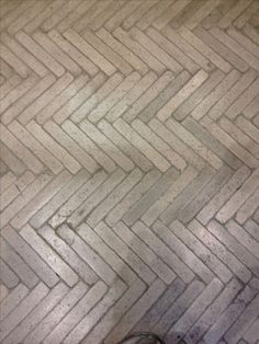 Herringbone cast concrete floor to match the wood herring bone floors throughout house. Interior Inspiration, Design Inspiration, Design Ideas, Doors And Floors, Interior And Exterior, Interior Design, Concrete Floors, Concrete Path, Brick Paving