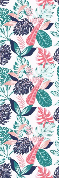 Removable Wallpaper Mural Peel & Stick Self Adhesive Wallpaper Painted Tropical Exotic Leaves Abstract Colors in a Cartoon Style Iphone Background Wallpaper, Aesthetic Iphone Wallpaper, Screen Wallpaper, Aesthetic Wallpapers, Wallpaper Murals, Office Wallpaper, Iphone Backgrounds, Wallpaper Wallpapers, Wallpaper Ideas