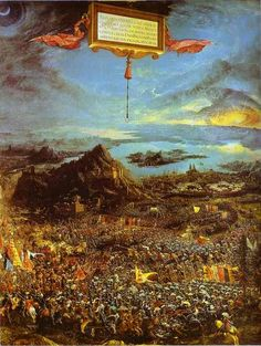 Charles Fonseca: Altdorfer: A Batalha de Alexandre, o Grande (1529)...
