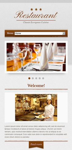 elegant restaurant web design
