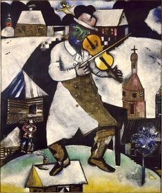 Marc Chagall, 1912, The Fiddler, an inspiration for the musical Fiddler on the Roof[22]