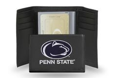 Penn State Nittany Lions Team Embroidered Leather Trifold/Wallet