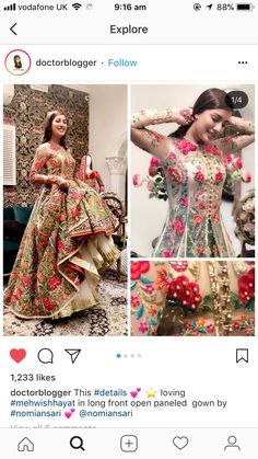 Indian Wedding Gowns, Indian Wedding Fashion, Pakistani Bridal Dresses, Indian Gowns, Indian Attire, Indian Outfits, Indian Fashion, Couture Dresses, Fashion Dresses