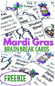 Fine Motor Activities For Kids, Spring Activities, Mardi Gras Beads, Mardi Gras Party, Mardi Gras Activities, Preschool Lessons, Preschool Plans, Brain Breaks, Yoga For Kids