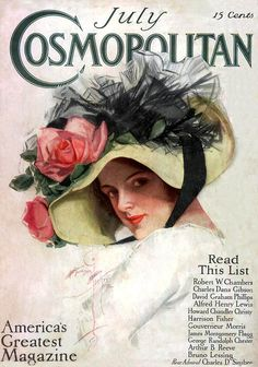 Cosmopolitan magazine, July 1912 - cover art by Harrison Fisher