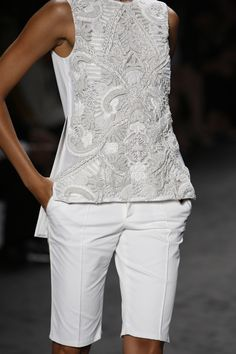Vera Wang Spring 2013 Collection I love the blouse and the shorts.
