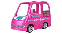 Check out the Power Wheels Barbie Dream Camper Ride-On Vehicle at the official Fisher-Price website. Explore all our Power Wheels ride-on vehicles and accessories today! Barbie Camper Van, Camping Car Barbie, Barbie Car, Barbie Dolls, Pink Barbie, Barbie Food, Little Girl Toys, Baby Girl Toys, Toy Cars For Kids