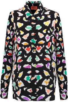 Shop on-sale Missoni Printed silk shirt. Browse other discount designer Tops & more on The Most Fashionable Fashion Outlet, THE OUTNET.COM