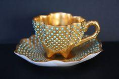 Coalport Miniature Jeweled Cup Saucer