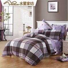 Free Shipping!Mercury Home Textile 100% Cotton Sanding Printed Bedding Set With 4pcs Duvet Cover Bed Sheet Doris