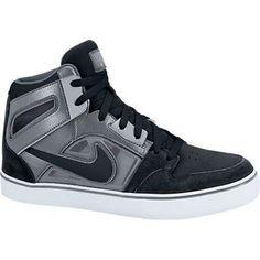 $76 + free shipping| Men's Nike Ruckus 2 High LR Skate Shoes Sneaker 598373 Black/White/Cool Grey sz 8 #Nike #CasualSkateboarding