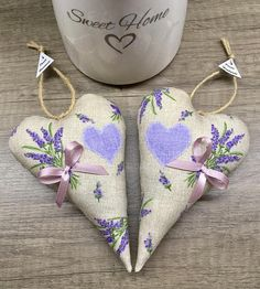 Items similar to Lavender hearts set 2 pieces on Etsy Valentines Day, Lavender, Unique Jewelry, Handmade Gifts, Hearts, Etsy, Vintage, Awesome, Valentine's Day Diy
