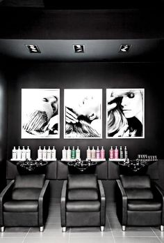 Carte Blanche Coiffure, Montreal | Check out Tal Fisher's fresh creative space at salonmagazine.ca #salon #sleek