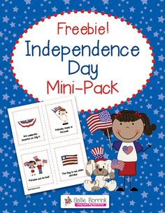 Independence Day Mini-Pack (free; from Sallie Borrink Learning)