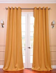 $29 per panel  marigold blackout drapes  http://www.halfpricedrapes.com/marigold-grommet-blackout-curtain.html