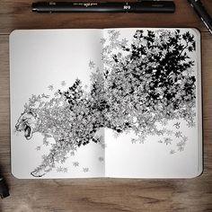 Surreal Hybrid Drawings Bloom and Burst Across Sketchbook Pages - My Modern Met